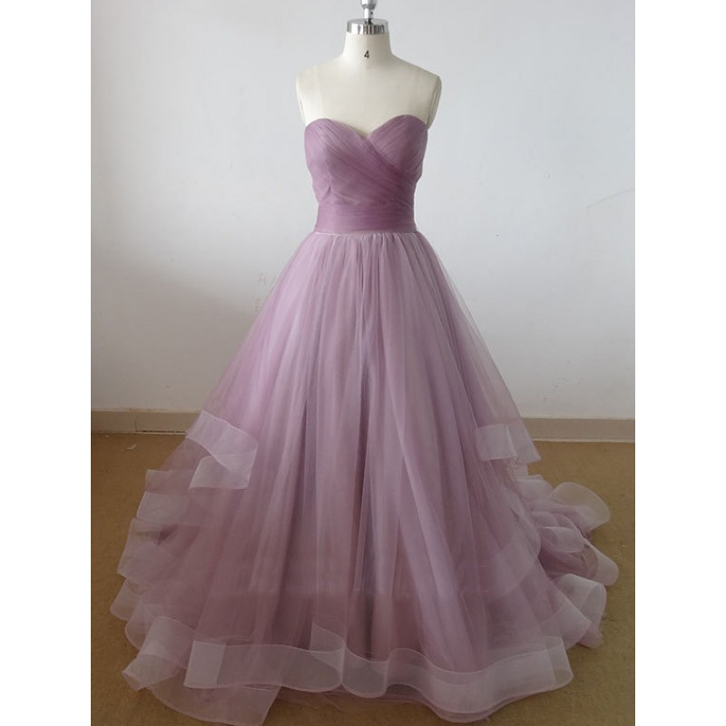 Sweetheart Tulle Prom Dress Long Prom Dress Cheap Prom Dresses