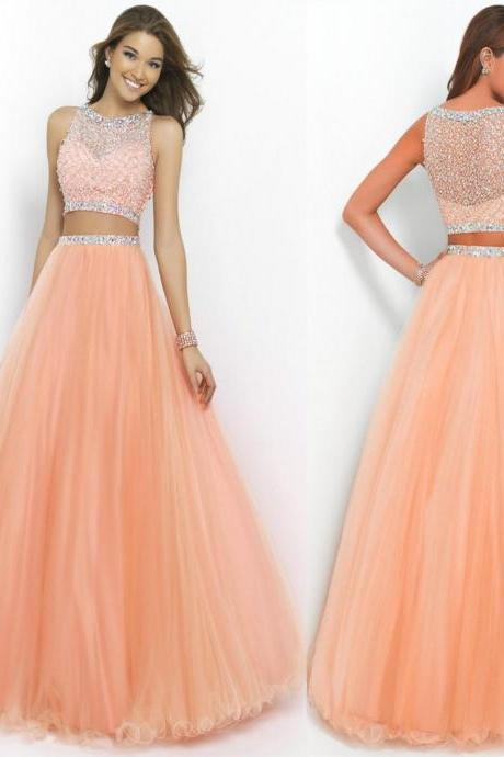 Charming Prom Dress,Beading Prom Dress,A-Line Prom Dress,Sexy Backless Prom Dress,Chiffon Prom Dress