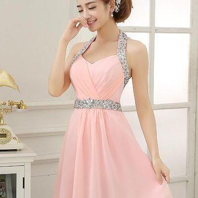 Homecoming Dress,Cute Prom Dress,Halter Homecoming Dresses,Short Prom Dress, Chiffon Prom Dress,Cute Prom Dresses, Prom Dress
